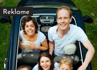 Familie i en bil