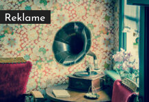 En grammofon.